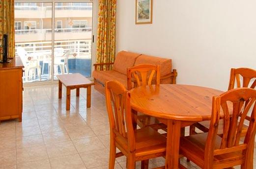 Appartementen Zahara woonkamer